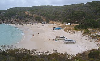 Great Southern (Western Australia) - Recreational beach fishing at Dillon Bay, near Bremer Bay. Fishing, tourism and leisure are significant industries in the Great Southern Region.