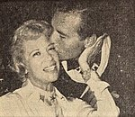 Dinah Shore with George Montgomery, 1960.jpg
