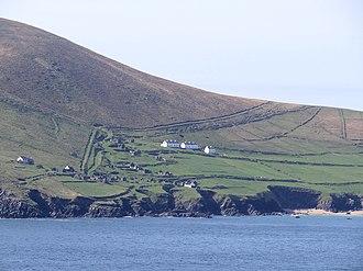 Great Blasket Island - Abandoned houses on Great Blasket Island