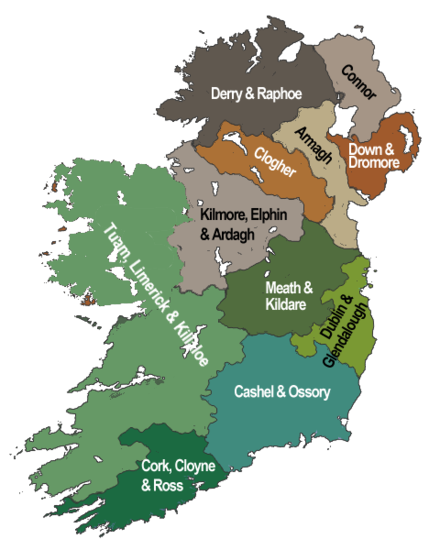 Map of the dioceses of the Church of Ireland ### Province of Armagh ### Province of Dublin Dioceses of the Church of Ireland.png