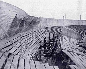 1902 Ibrox disaster - The collapsed Western Tribune Stand