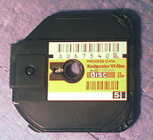 Disc film - Cartridge of disc film