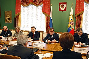 THE KREMLIN, MOSCOW. Meeting with members of t...
