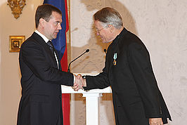 Peter Stein en Dmitry Medvedev in 2008