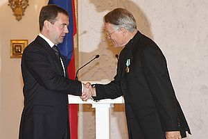 Peter Stein - Peter Stein (right) and Dmitry Medvedev