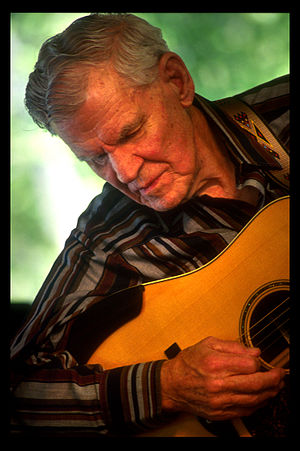 MerleFest - Doc Watson (photo by Austen Millkulka)