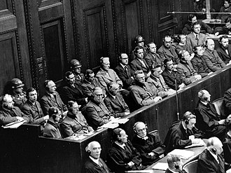 The Holocaust - The 23 defendants during the Doctors' trial, Nuremberg, 9 December 1946 – 20 August 1947
