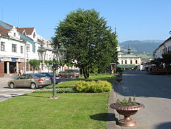 Dolny kubin town center.JPG