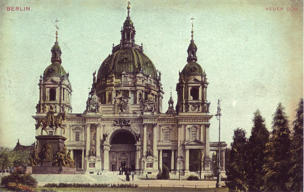 Berliner Dom, la cathédrâle protestante de Berlin sur une carte postale de 1900.