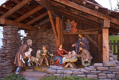 Nativity scene in Baumkirchen, Austria Dorfkrippe Baumkirchen.jpg