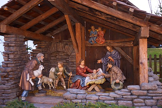 Nativity scene in Baumkirchen, Austria. Dorfkrippe Baumkirchen.jpg