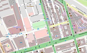 Dorset Square - The immediate vicinity of Dorset Square.