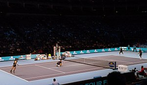 Doubles at ATP World Tour Finals 2011 (8168055455).jpg