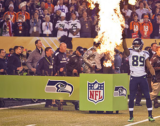Doug Baldwin - Baldwin before the start of Super Bowl XLVIII.