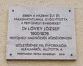 Dr. Lövey József, Pestújhely nagyközség körzeti orvosa emléktábla, 2018 Pestújhely.jpg