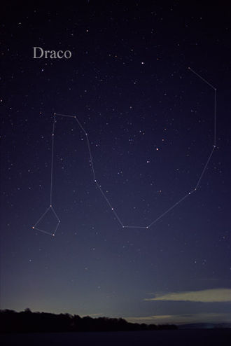 Draco (constellation) - The constellation Draco as it can be seen by the naked eye