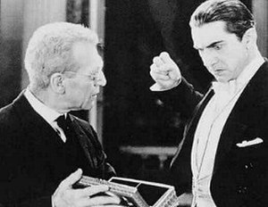 Edward Van Sloan - Edward Van Sloan and Bela Lugosi in Dracula (1931)