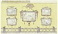 Drawing, Design for Wall Decoration, Yellow (North) Drawing Room, Royal Pavilion, Brighton, 1815 (CH 18609863).jpg