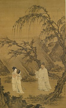 Du Jin - Wang Xianzhi (Wang Hsien-Chih) and Two Wives Among Willows and Rocks - Walters 355.jpg