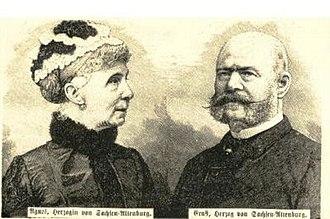 Princess Agnes of Anhalt-Dessau - Agnes with her husband Ernst I, Duke of Saxe-Altenburg