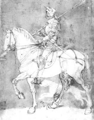 Knight, Death and the Devil - Knight on horse, a study from c.1512–13.