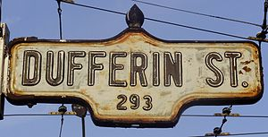 Dufferin Street - Image: Dufferin Street Sign