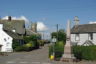 Dunscore - Image: Dunscore village and War Memorial