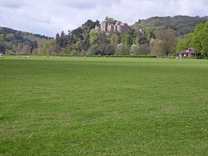 Feudal barony of Dunster - Dunster Castle, caput of the feudal barony of Dunster. Situated on a strategically defensive tor, at one time the seat of an Anglo-Saxon named Dun, in the valley of the River Avill