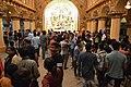 Durga Puja Pandal Interior With Visitors - Ballygunge Durga Puja Samiti - Maddox Square - Kolkata 2017-09-26 3940.JPG