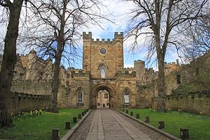 Durham Castle - The entrance to Durham Castle, remodelled in the 18th and 19th centuries