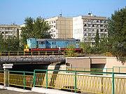 A diesel loco near the main train station in Bishkek