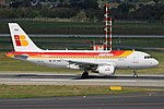 EC-KBX Airbus A319-100 Iberia DUS 2018-09-01 (6a) (43602449455).jpg