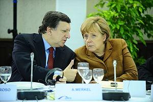 Barroso, Merkel