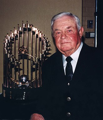 Earl Weaver - Weaver with the 1970 World Series Trophy