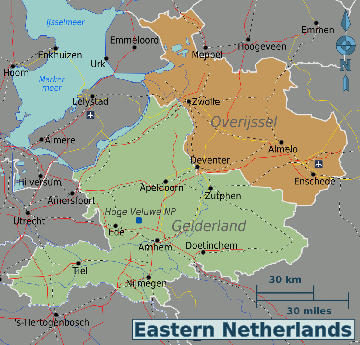 eastern netherlands travel guide at wikivoyage