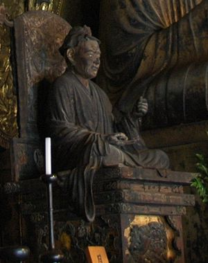 Jōkei (sculptor) - Sitting statue of Yuima by Jōkei,  inside of the Eastern Golden Hall (東金堂, tōkon-dō) of Kōfuku-ji, designated as a National Treasure of Japan