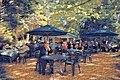 Easton Lodge Gardens, Little Easton, Essex, England outdoor café 04 digiart 06.jpg
