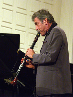 Jazz clarinetist Eddie Daniels performing live in concert in New Haven, CT on September 14, 2007.}