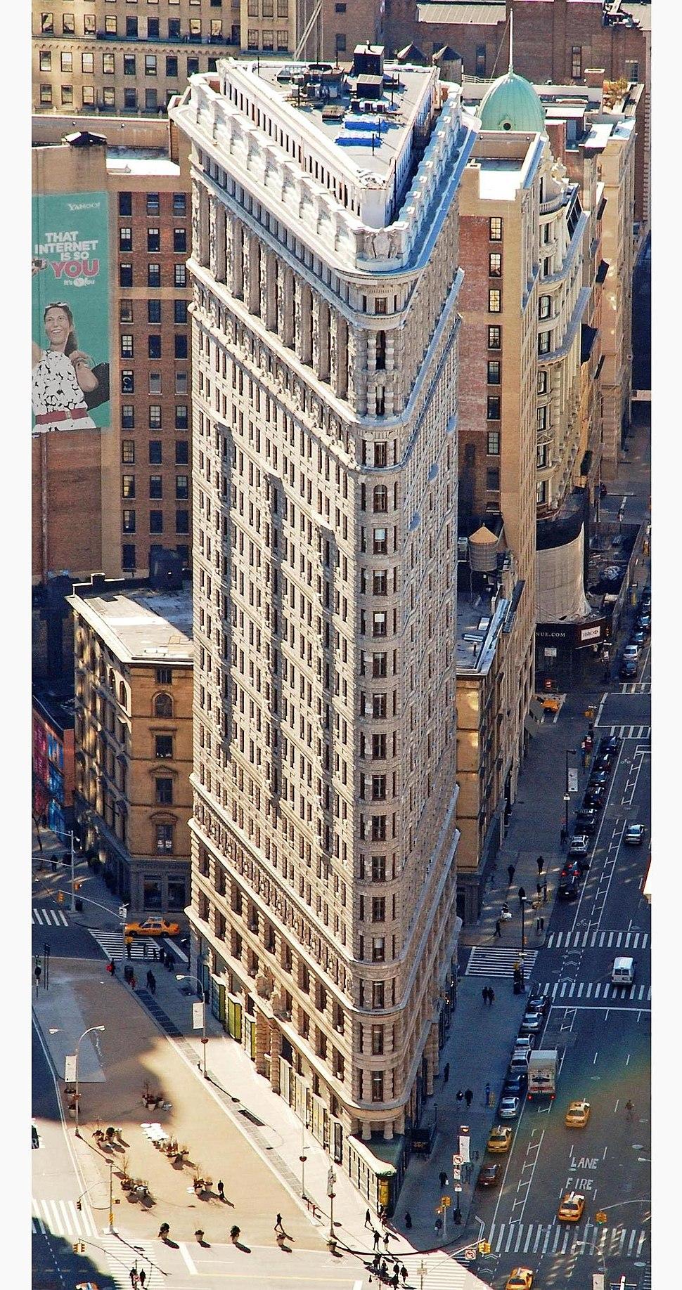 Edificio Fuller (Flatiron) en 2010 desde el Empire State crop boxin