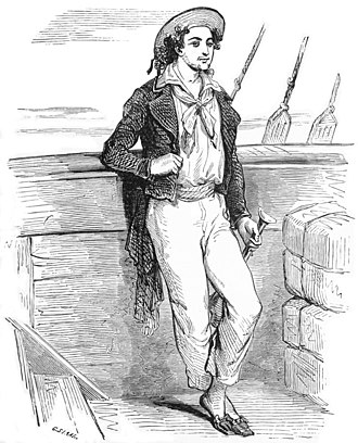 The Count of Monte Cristo - The main character Edmond Dantès was a merchant sailor prior to his imprisonment. (Illustration by Pierre-Gustave Staal)