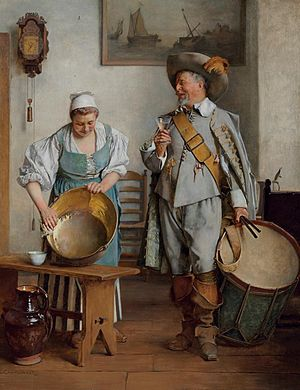 Eduard Charlemont - A Drink for the Drummer, 1889.