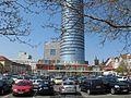 Eichplatz Jena April 2011 Blick auf den JenTower.jpg