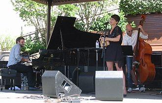 Gretchen Parlato - Healdsburg Jazz Festival, 2010, with Taylor Eigsti on piano, Alan Hampton on bass, and Kendrick Scott on drums.