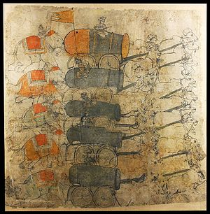 Battle of Karnal - Mughal artillery was antiquated in comparison to Nader's reformed Persian artillery.