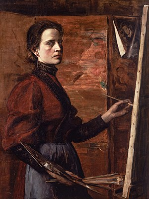 Elizabeth Nourse - self-portrait from 1892