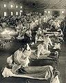 Emergency hospital during Influenza epidemic, Camp Funston, Kansas - NCP 1603 (cropped).jpg