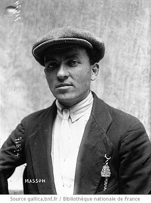 Émile Masson (cyclist) - Masson in 1919
