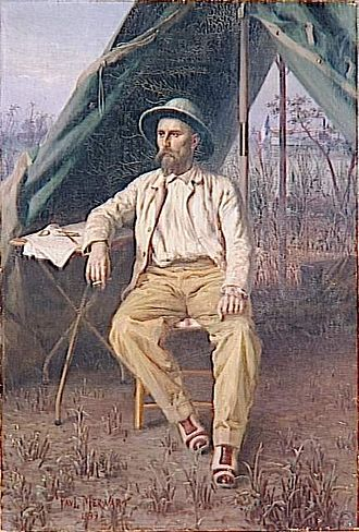 Émile Gentil - Emile Gentil in Africa, by Paul Merwart.