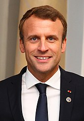 head shot of Emmanuel Macron
