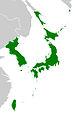 Карта Японской империи